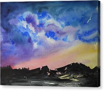 Mountain Sunset Canvas Print by Bitten Kari