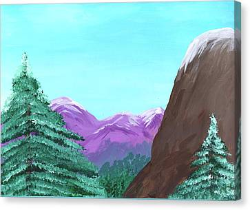 Mountain View Canvas Print by M Valeriano