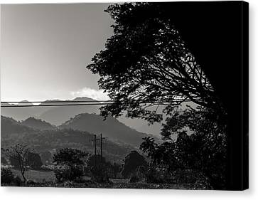 Mountain View Of Nicaragua Canvas Print by Nomadic Ninja Negativs