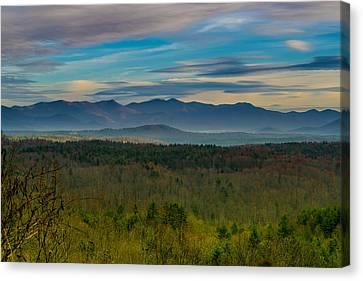 Mountain Views From Blue Ridge Parkway Canvas Print by Joseph Kimmel