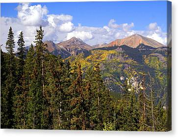 Mountains Aglow Canvas Print by Marty Koch