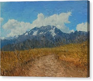 Mountains In Puru Canvas Print by David Lane