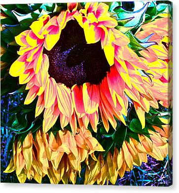 Mourning Canvas Print by Gwyn Newcombe