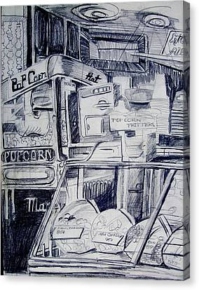 Movie Pop Corn Canvas Print by Mindy Newman