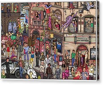 Movie Stars Canvas Print by Matan Kohn