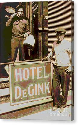 Moving Hotel Degink Canvas Print by Padre Art