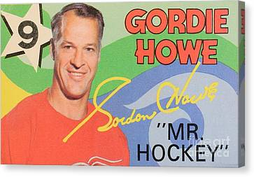 Mr. Hockey Gordie Howe Collectable Canvas Print by Pd