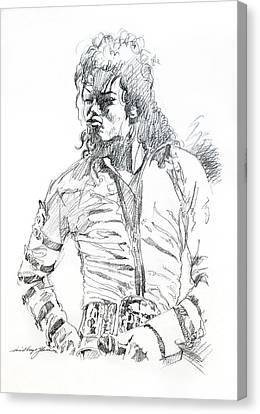 Mr. Jackson Canvas Print by David Lloyd Glover