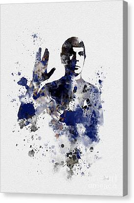 Mr Spock Canvas Print by Rebecca Jenkins