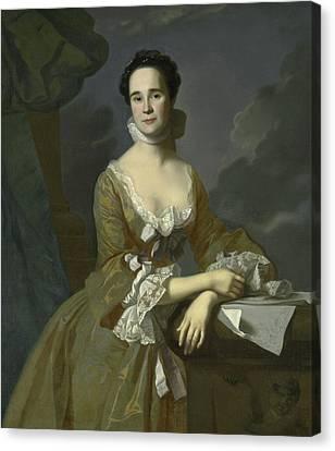 Mrs Daniel Hubbard  Canvas Print by John Singleton Copley