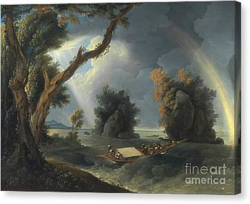 Mrs. Hastings Near The Gol-kon Rocks Or Storm On The Ganges Canvas Print by Celestial Images