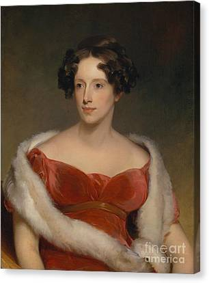 Mrs. John Biddle - Eliza Falconer Bradish Canvas Print by Celestial Images