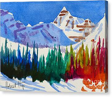 Mt. Athabasca, Jasper Canvas Print by Mohamed Hirji