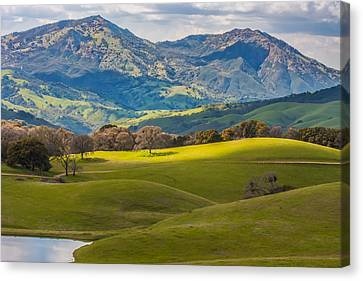Mt. Diablo On A Spring Afternoon Canvas Print by Marc Crumpler