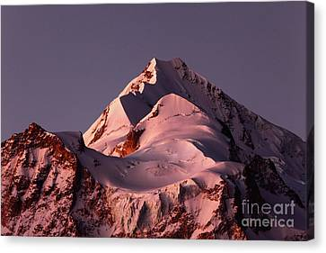 Mt Huayna Potosi Mauve Snows 1 Canvas Print by James Brunker