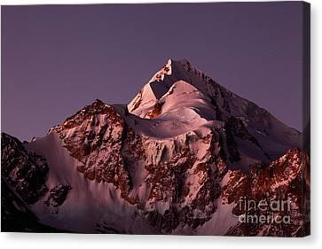 Mt Huayna Potosi Mauve Snows 2 Canvas Print by James Brunker
