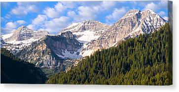 Mt. Timpanogos In The Wasatch Mountains Of Utah Canvas Print by Utah Images