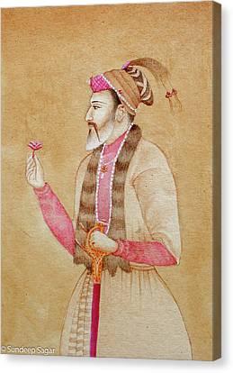 Mughal Emperor Canvas Print by Sandy