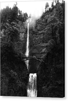 Multnomah Falls Canvas Print by Jean Evans