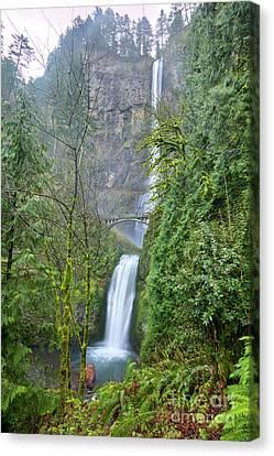 Multnomah Falls Waterfall Oregon Columbia River Gorge Canvas Print by Dustin K Ryan