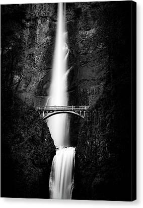 Multnomah Monochrome Canvas Print by Peter Irwindale