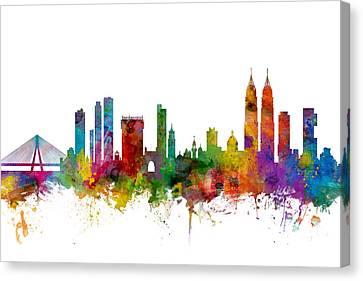 Mumbai Skyline India Bombay Canvas Print by Michael Tompsett
