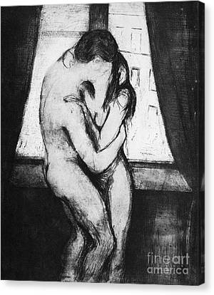 Munch: The Kiss, 1895 Canvas Print by Granger