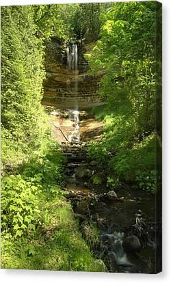 Munising Falls Canvas Print by Michael Peychich