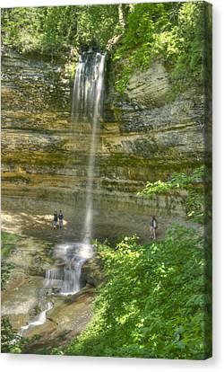 Munising Waterfall Canvas Print by Michael Peychich