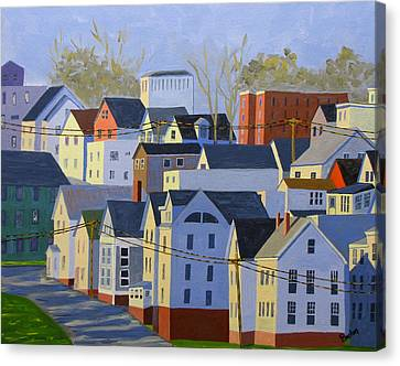 Munjoy Afternoon Canvas Print by Laurie Breton