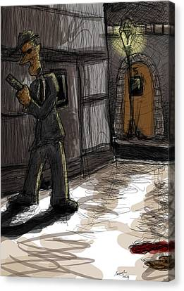 Murder At Number 5 Canvas Print by Sasank Gopinathan