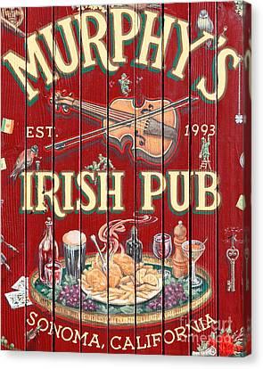 Murphy's Irish Pub - Sonoma California - 5d19290 Canvas Print by Wingsdomain Art and Photography