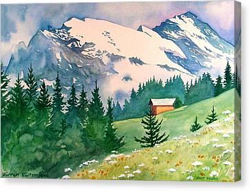 Murren Switzerland Canvas Print by Scott Nelson