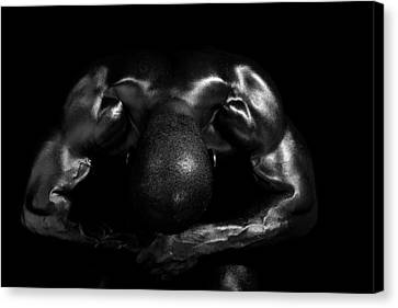 Muscle Man At Rest Canvas Print by Val Black Russian Tourchin
