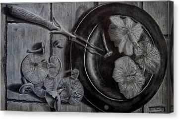 Mushroom Dinner Canvas Print by Eric Hausel