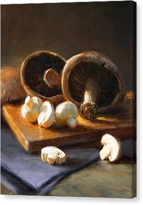 Mushrooms Canvas Print by Robert Papp