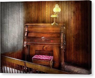 Music - Organist - A Vital Organ Canvas Print by Mike Savad