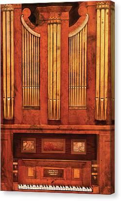 Music - Organist - Skippack  Ville Organ - 1835 Canvas Print by Mike Savad