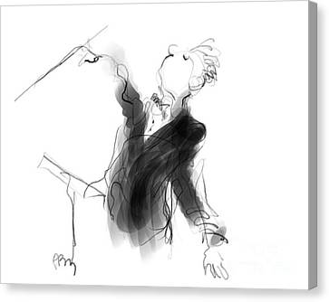 Music Conductor Sketch Canvas Print by Paul Miller