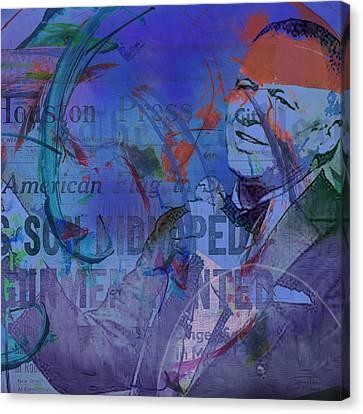 Music Icons - Frank Sinatra Iv Canvas Print by Joost Hogervorst