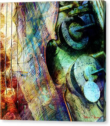 Music II Canvas Print by Barbara Berney