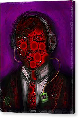 Music Lover Canvas Print by Russell Pierce