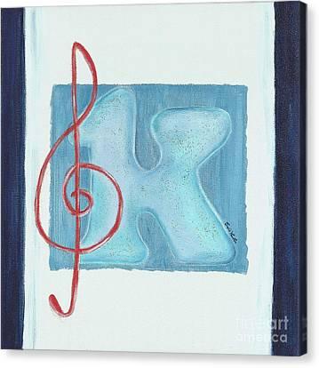 Music Note Canvas Print by Celebratta Celebratta