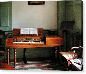 Music Room With Piano Canvas Print by Susan Savad
