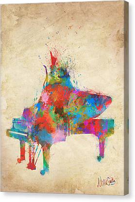Music Strikes Fire From The Heart Canvas Print by Nikki Marie Smith