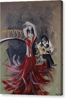 Musica Espaniol Canvas Print by Kelly Jade King