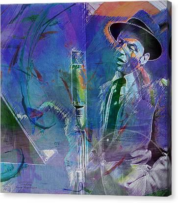 Music Icons - Frank Sinatra I Canvas Print by Joost Hogervorst