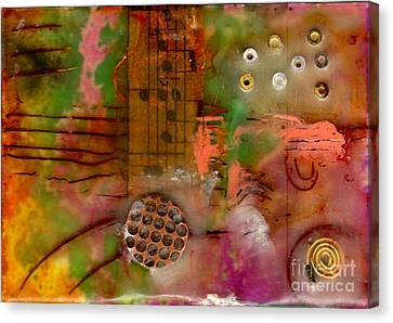 Musical Notes Canvas Print by Angela L Walker