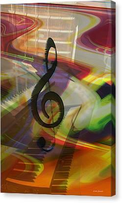 Musical Waves Canvas Print by Linda Sannuti