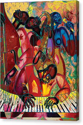 Musicfest Canvas Print by Larry Poncho Brown